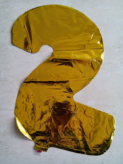 Balon Foil Angka 2 Warna Gold