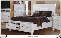 tempat tidur minimalis laci white