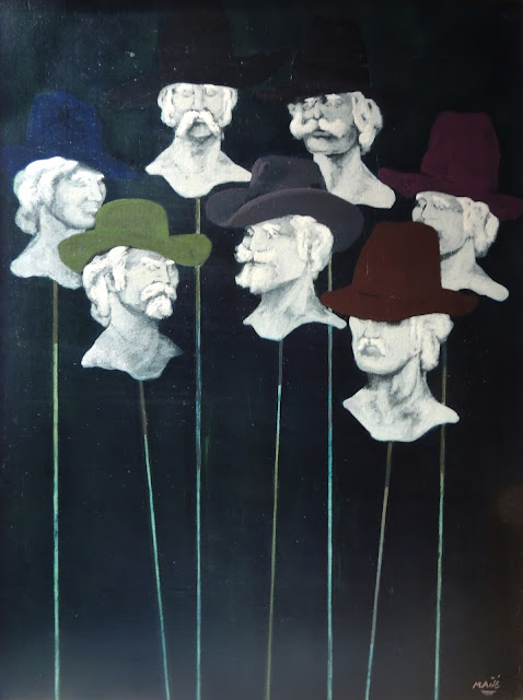 Pablo Mañé arte latinoamericano pintura surrealista cabezas