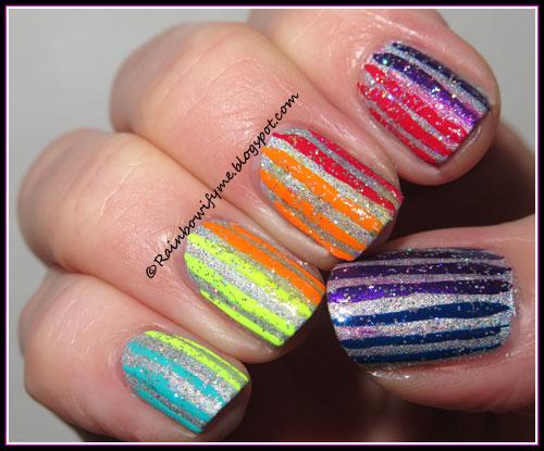 Rainbow nail art