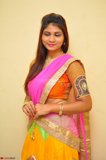 Lucky Sree in dasling Pink Saree and Orange Choli DSC 0357 1600x1063.JPG