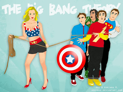 big bang theory, penny ties up the guys