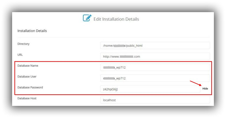 Wordpress-Edit-Installation-Details