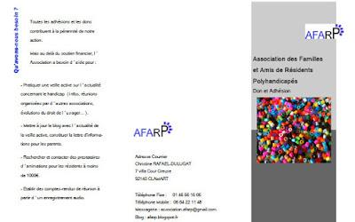 Bulletin d'adhésion de l'AFARP