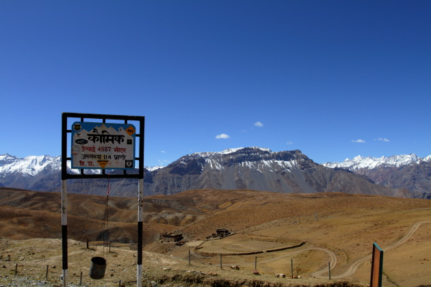 Komic - one of the highest villages of the world at 4587 meters