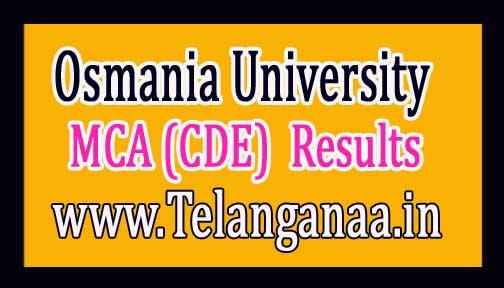 Osmania University MCA (CDE) August 2016 Exam Results Download