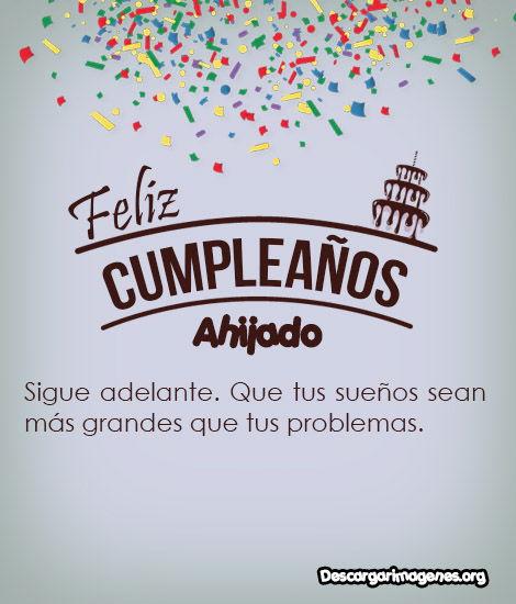 Feliz cumpleaños ahijado.