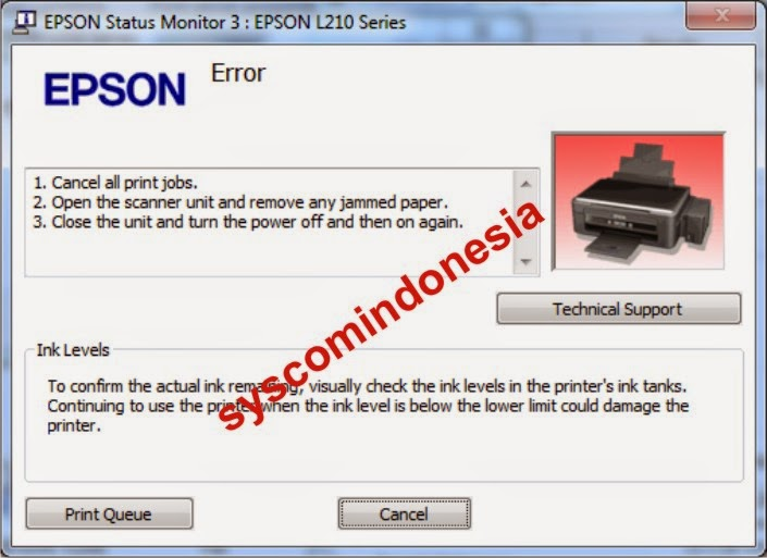 Service Printer Paper Jammed Epson L210 Syscom Indonesia