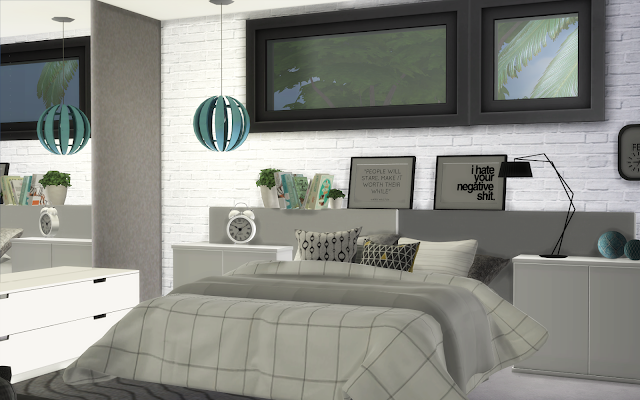 chambre parent design sims 4