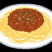 ボロネーゼのイラスト(スパゲッティ)