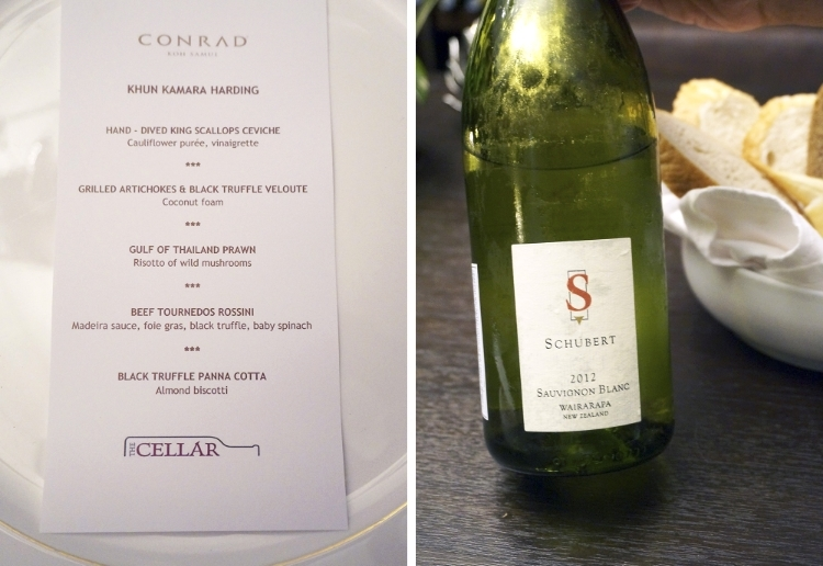 Euriental | fashion & luxury travel | Conrad Koh Samui. Dinner at The Cellar.