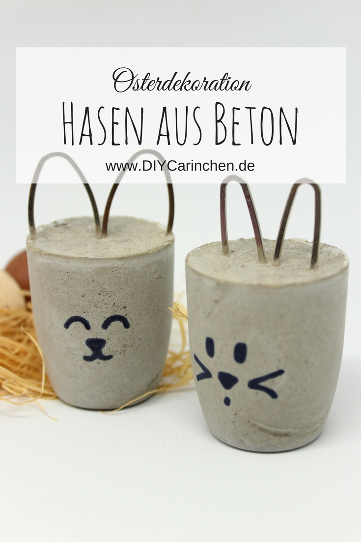 diy osterhasen aus beton kleine osterdeko diycarinchen. Black Bedroom Furniture Sets. Home Design Ideas