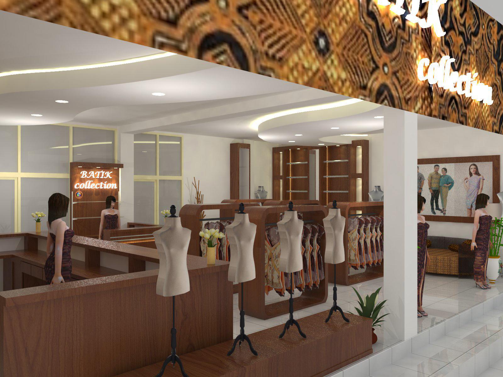 Desain Interior Toko Baju Batik | Klopdesain