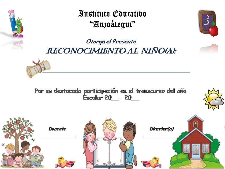 Planeta Escolar Diplomas y Reconocimientos para alumnos