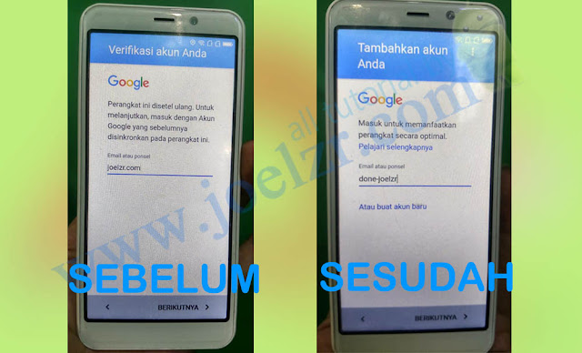 Buka Akun google Advan S5E Full View tested