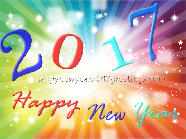 Happy New Year 2017 Colorful HD Background Wallpapers