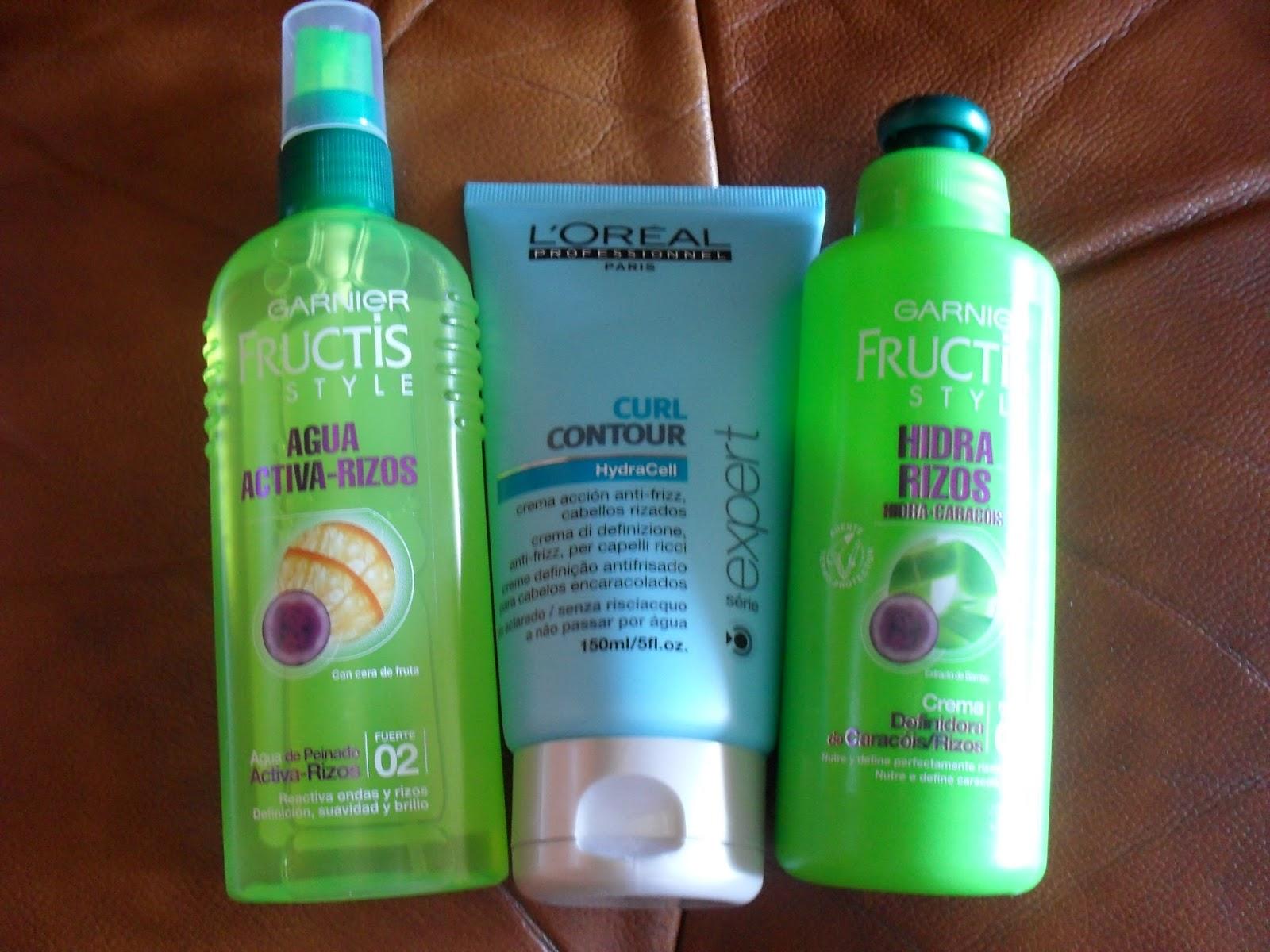 Agua de peinado rizos fructis