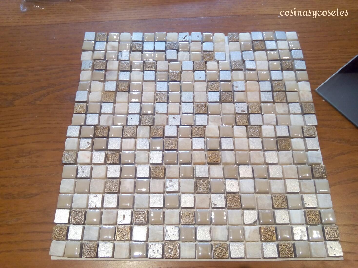 Cosinas y cosetes diy marcos para espejos con azulejo - Azulejos de gresite ...
