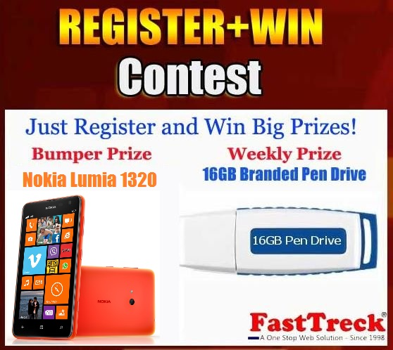 Contest !! Register To Win Lucky Draw Nokia Lumia 1320 Mobile or