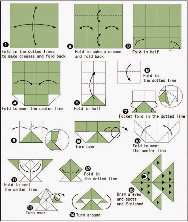 How To Make An Easy Origami Fish - Folding Instructions - Origami ... | 723x614