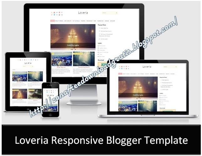Loveria Responsive Blogger Template