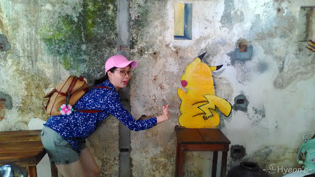 pikachu street art penang