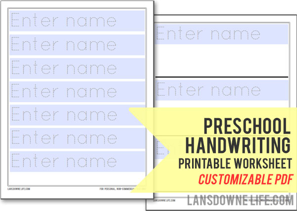 Free Customized Handwriting Printable Worksheets ~ Mama Miah!