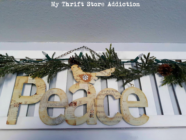 My Thrift Store Addiction Christmas decor