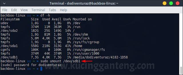 Cara Format Flashdisk di Linux via Terminal