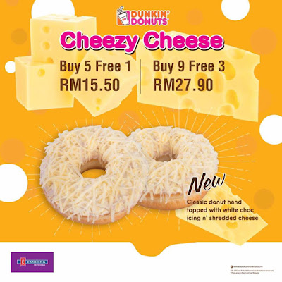 Dunkin' Donuts Cheezy Cheese Donuts Promo