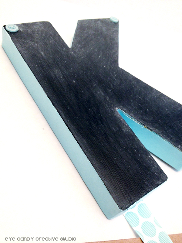 seasoned chalkboard initial, chalkboard craft, back to school, locker