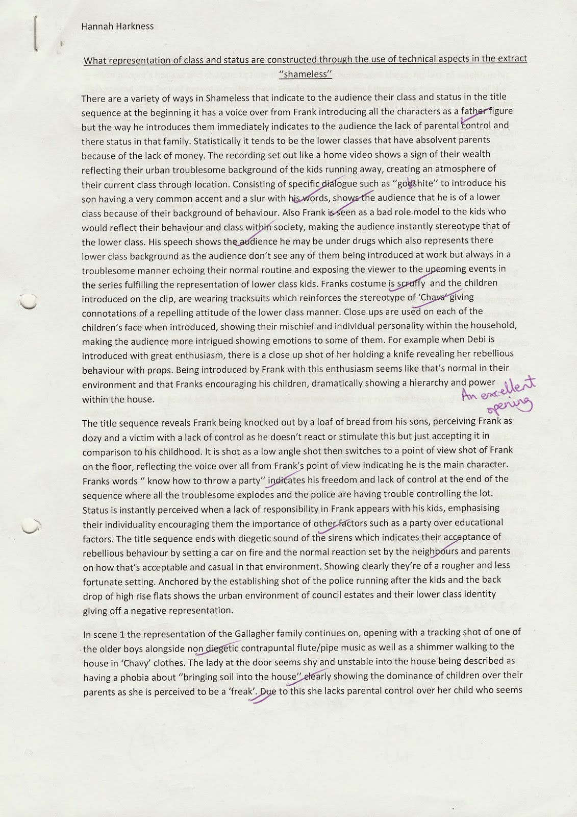 essays portfolio i also have a hand written essay similar but based on another media question that has been analysed by myself in order for improvement marked by my second