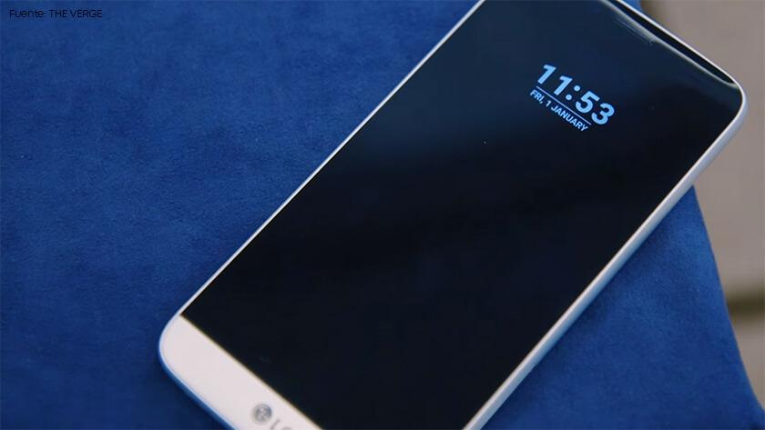 Pantalla curva mal lograda del LG G5