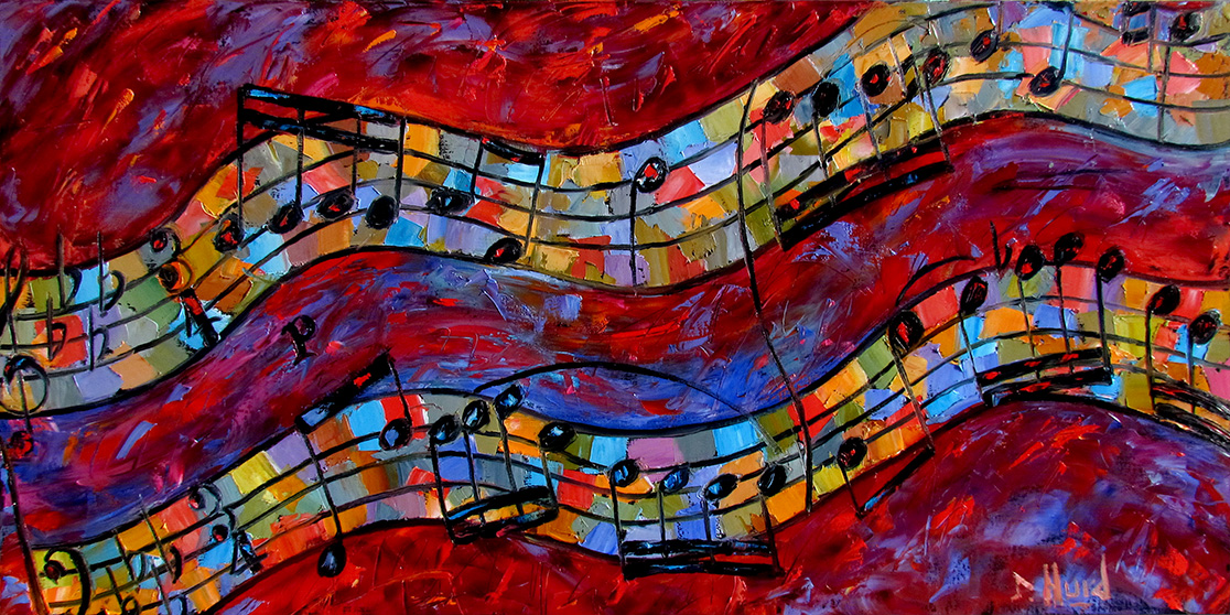 painting debra hurd fine piano paintings bach invention jazz abstract artists painters artist dailypainters inventio ix
