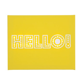 light up yellow hello canvas
