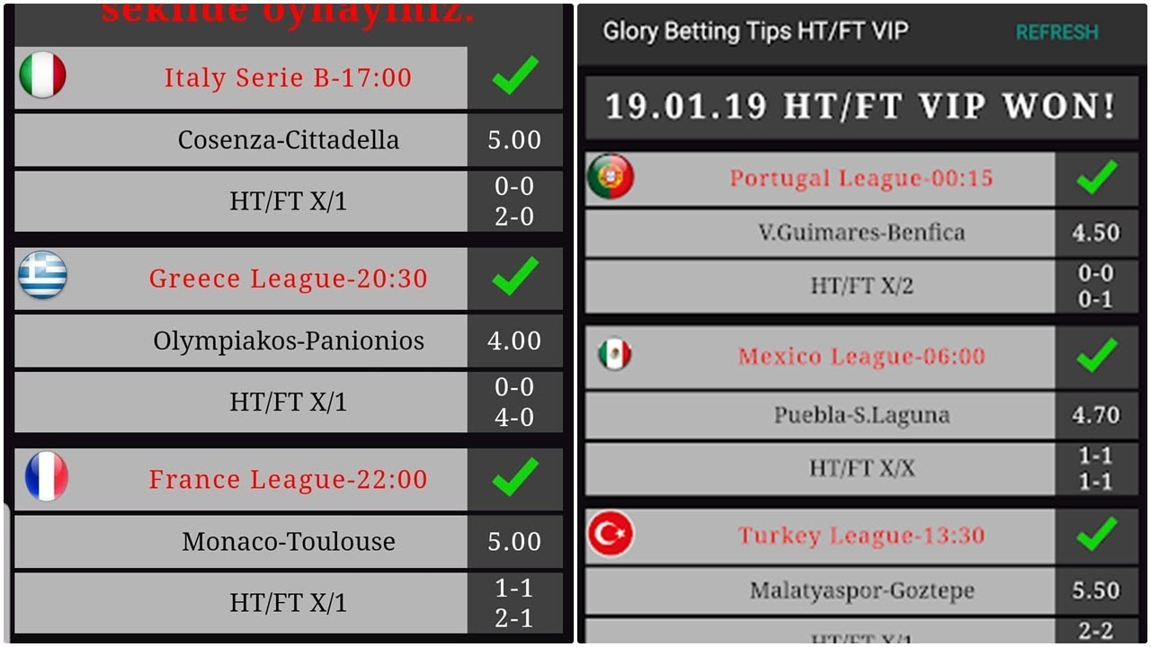 Glory Betting Tips HT/FT VIP APK FREE DOWNLOAD | Glory Betting Tips