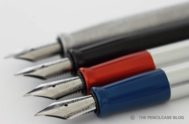 Karas Pen Co. Reaktor Galaxie ballpoint, Galaxie XL rollerball & Starliner (XL) fountain pen review and comparison post
