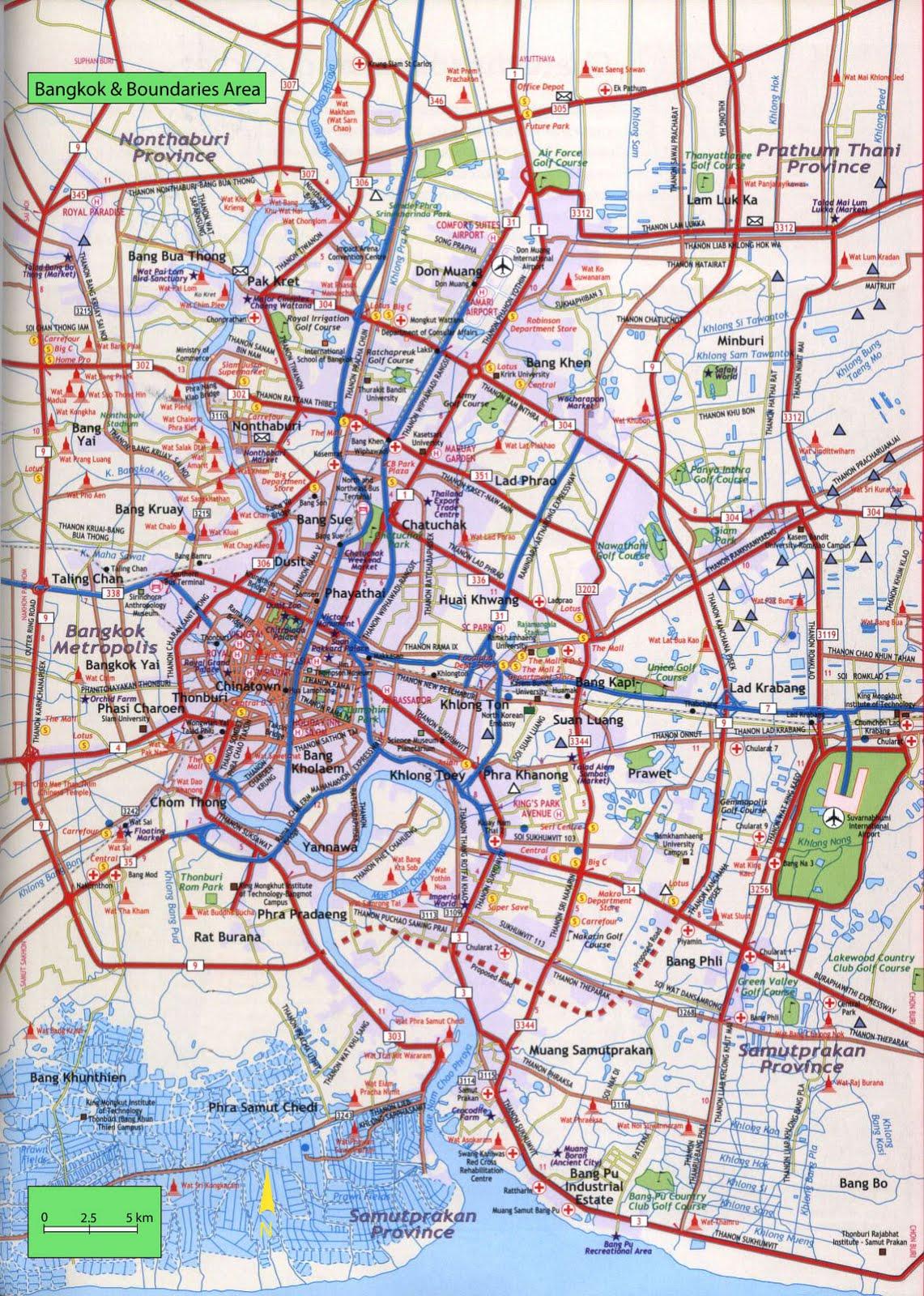 Map of Bangkok - Free Printable Maps