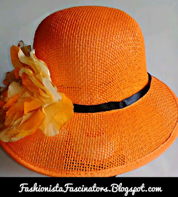 Orange fascinators in Kenya