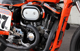 sportster street tracker total orange engine