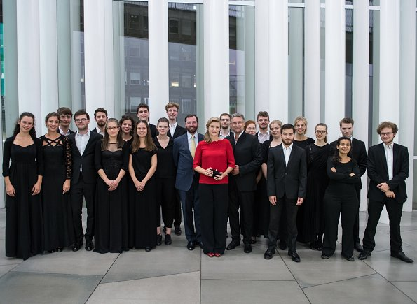 Prince Guillaume and Princess Stephanie attended the concert of the Young Belgian Strings at Philharmonie Luxembourg