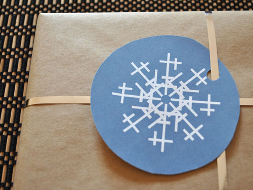 free snowflake gift tags