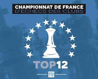 Le top 12 d'échecs à Chartres - Affiche © FFE