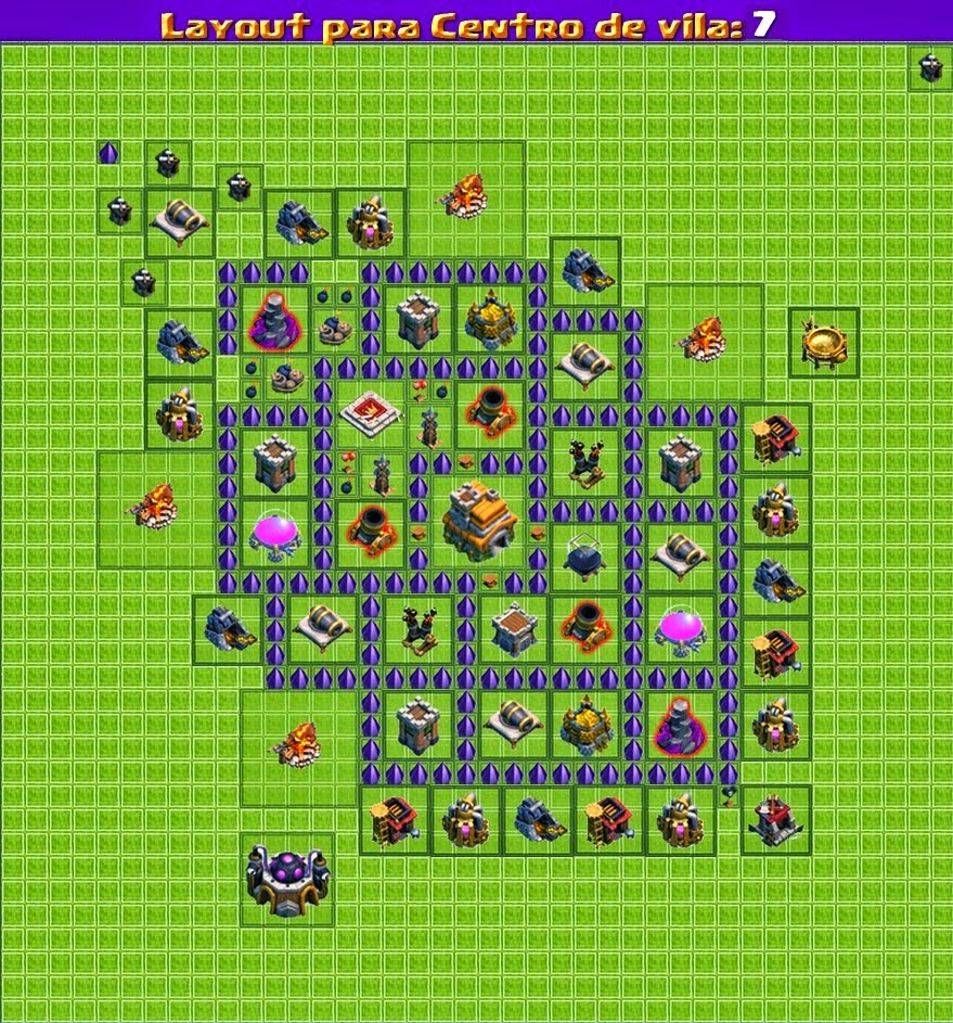Dicas Clash Of Clans 'LayOuts