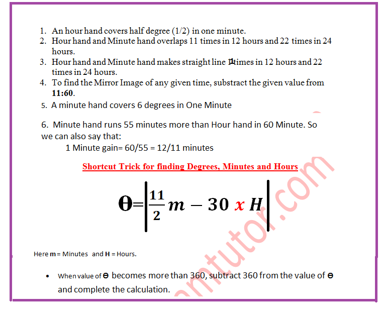 Shortcut Trick to Solve Clock related Problems in Reasoning for SSC CGL Tier-1 Exam