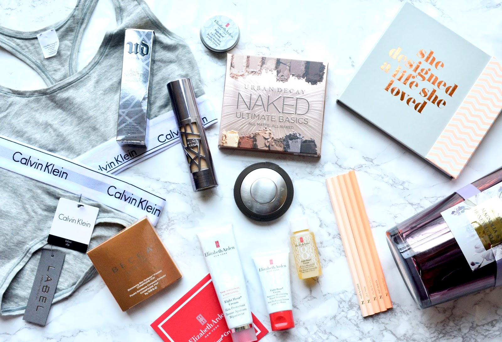 Beauty, Makeup, Christmas, What I got For Christmas, Elizabeth Arden, Urban Decay,Urban Decay All Nighter Foundation, Calvin Klein Underwear, Urban Decay Ultimate Basics, Zoella Lifestyle, Zoella Lifestyle Planner, Becca Hill Champagne Pop, Highlighter,