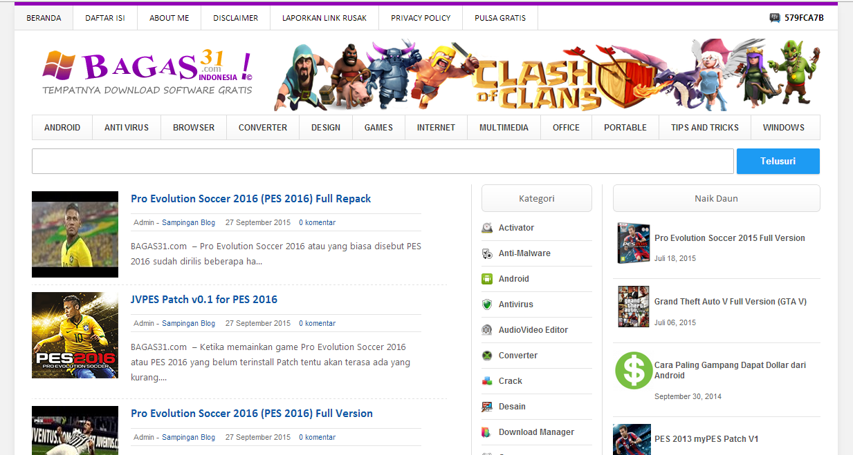 Free Download Template Bagas31 Yang Terbaru Bagas31 V Wordpress