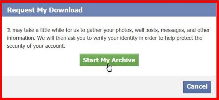 how to get deleted archived messages back on facebook