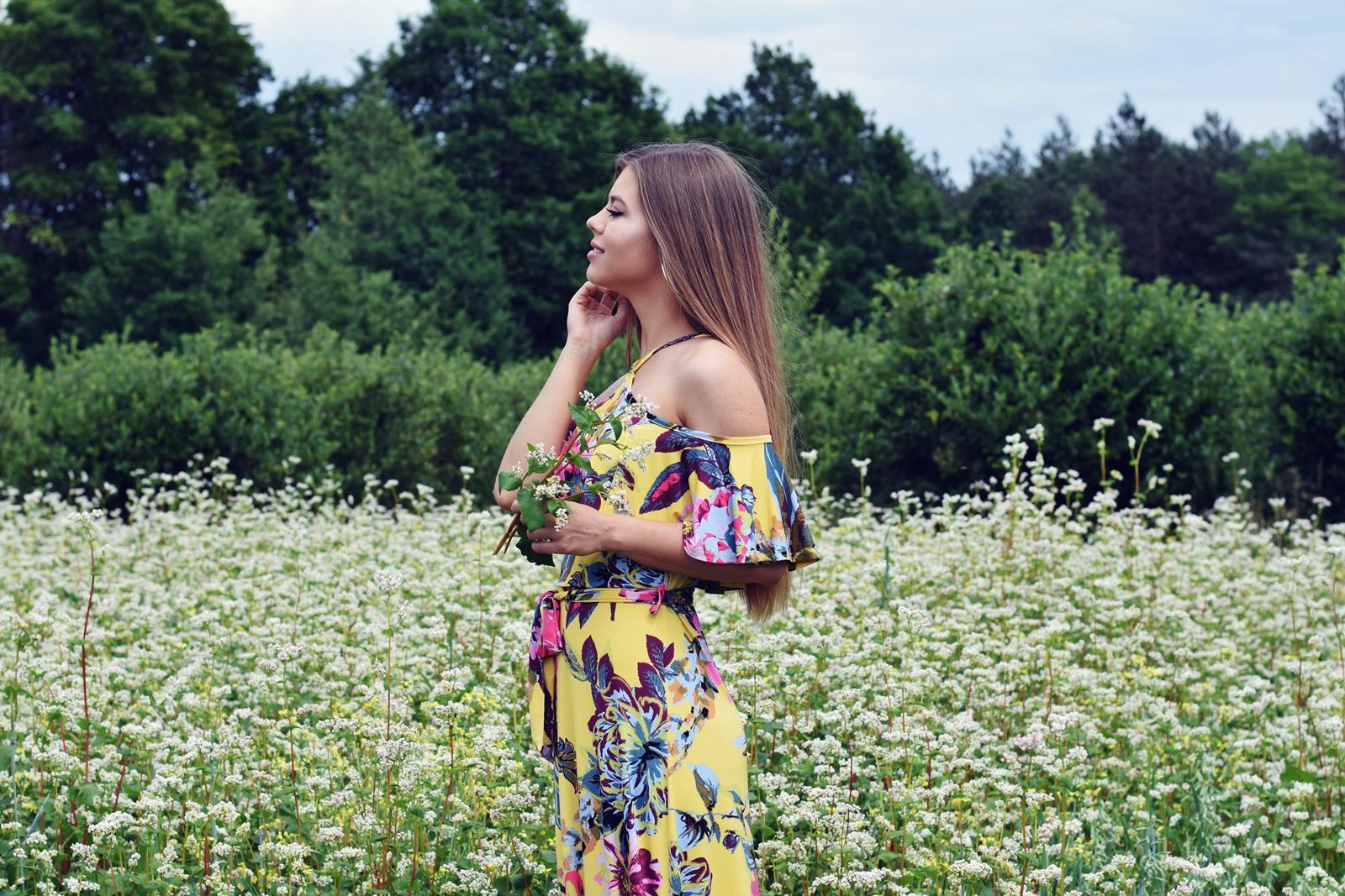 Sukienka maxi w kwiatowy print | BONPRIX