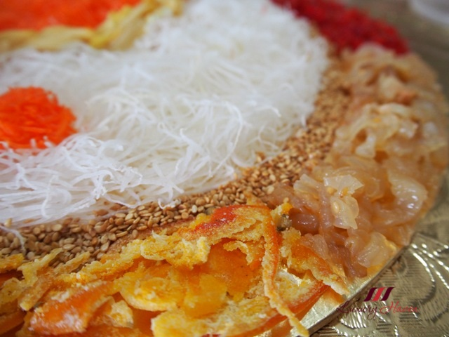 cny auspicious lohei with dried orange peel